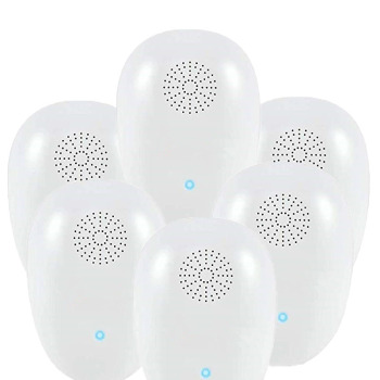 6 pack Ultrasonic Pest Repeller, Pest Control Ultrasonic Repellent for Mosquito Spider