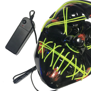 2019 Flydee Light Up Glowing Neon Mask Factory Price EL Wire Neon Mask for Halloween & party Event