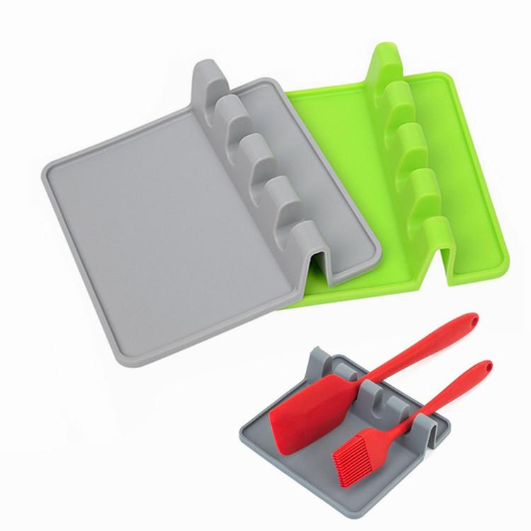 Термостойкий ковш вилка коврик силиконовая посуда подставка ковш ложка держатель
