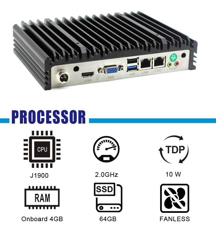 Quad Core Processor Industrial Embedded Compact PC