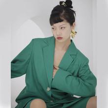 Женский блейзер с отложным воротником EAM, Зеленый свободный пиджак с длинным рукавом, на пуговицах, большие размеры, весна-осень 2020, 1U309(Китай)