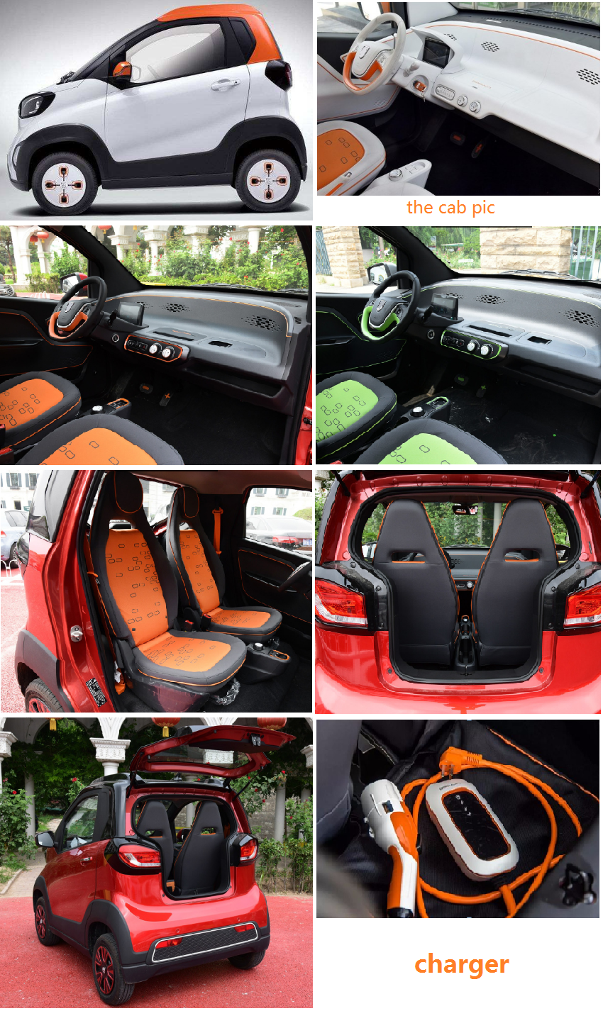 New 2 doors 2 seats 100km/h high speed lithium battery cute electric mini car adult electric scooter
