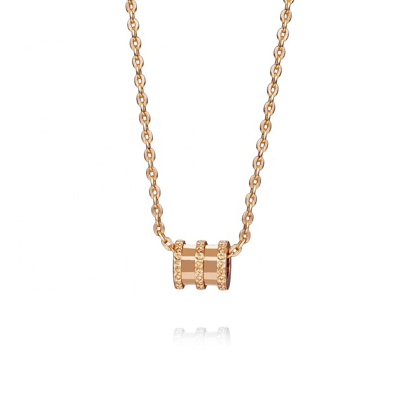 Loftily Jewelry New Products Copper Plated Silver 18K gold Stylish Geometry <strong>Fashion</strong> Chain Necklace Design Girls