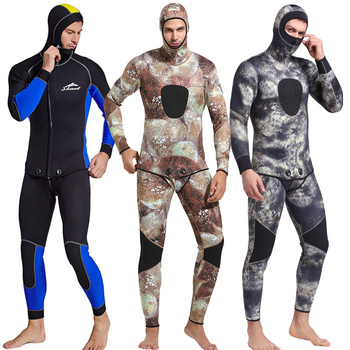3MM Neoprene Camouflage Diving Suit Open Cell Spearfishing Wetsuit for man