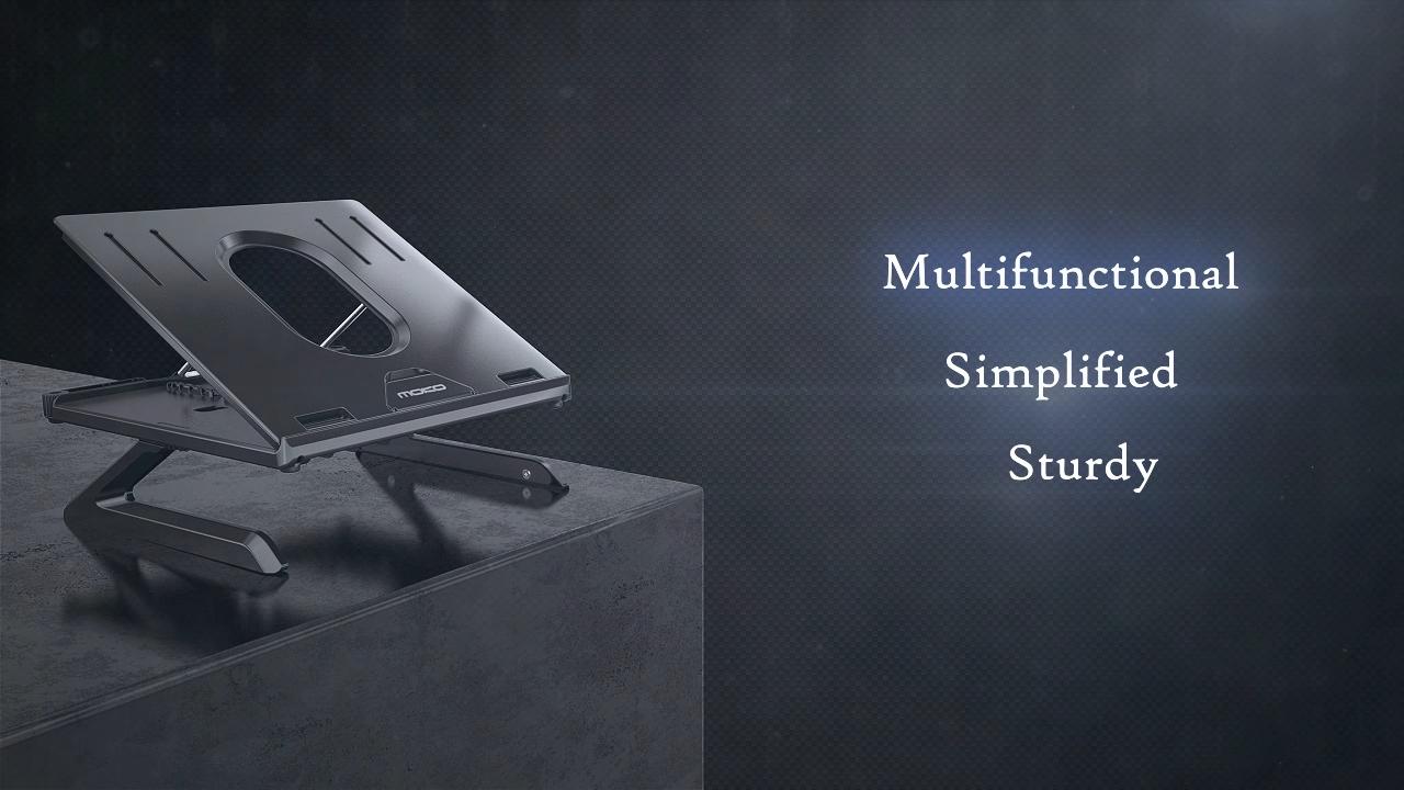 MoKo Multi-Angle Adjustable Foldable Laptop Holder Anti-slip Mount for 10''-15'' Notebook