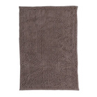 MIcrofiber chenille anti slippery water absorpt large non slip brown 2 piece bath mat