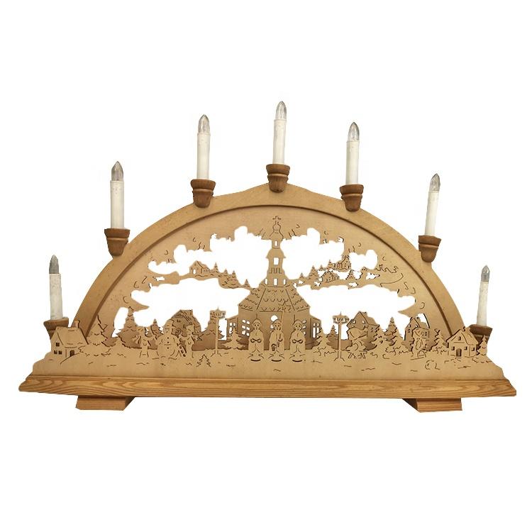 פסטיבל חג המולד עץ בית קישוט עץ גשר אור led אור עץ חג המולד קרפט