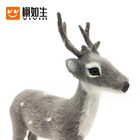 Family 2020 Factory Price Deer Christmas Decorations Christmas Decoration Family Deers Simulation Sika Deer Plush Stuffed Toys