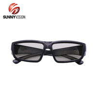 Customized Logo Passive Circular Polarized 3D cinema video glasses