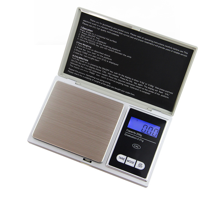 Elektronik Saku Portabel Kecil Presisi Digital Timbangan Berat Badan 0.01G Digital Pocket Scale