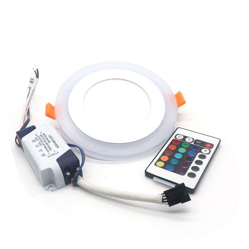 6W Acrylic LED Recessed RGB Ceiling Panel Down Lights Ultra Slim flat panel light