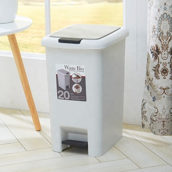 Kitchen square stainless steel recycle trash can compost bin with lids