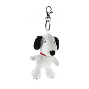 Cute White Dog Snoopy Peanuts Plush Keychain Decoration Gift