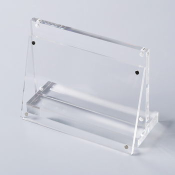Clear reflective luminous acrylic sheet mirror transparent plexi glass sign board scratch resistant perspex stand for office