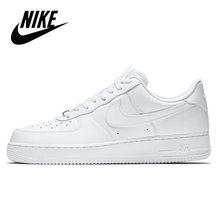 Nike Air Force 1 оригинальная кожаная мужская обувь для скейтбординга, удобные уличные спортивные кроссовки # AJ7747()