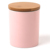 Custom Pink Ceramic Porcelain Kitchen Tea Coffee Sugar Canisters Jars Tins Sets With Bamboo Lids