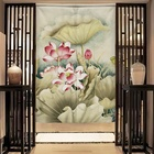 Curtain Custom Cotton Linen Portiere Shade Cloth Door Curtain For Washroom Living Room