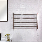 EV-4R Bathroom Wall Mounted Electric Towel Rack Stainless Steel Heated Towel Rail