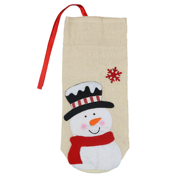 High Quality Printing Decorations Christmas Wine Bottle Gift Bag/Bags