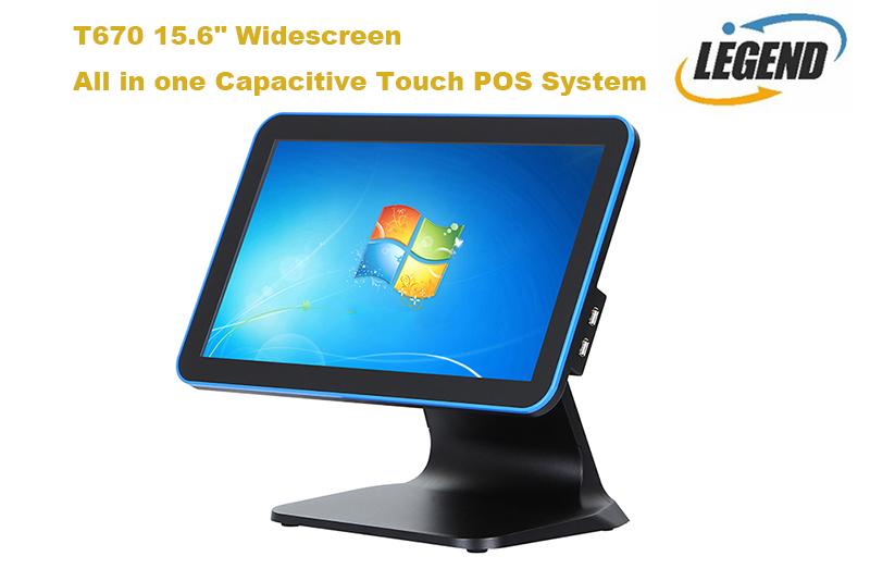 15.6 インチワイドスクリーンデスクトップコンピュータオールインワンタッチ pos システム電子レジ