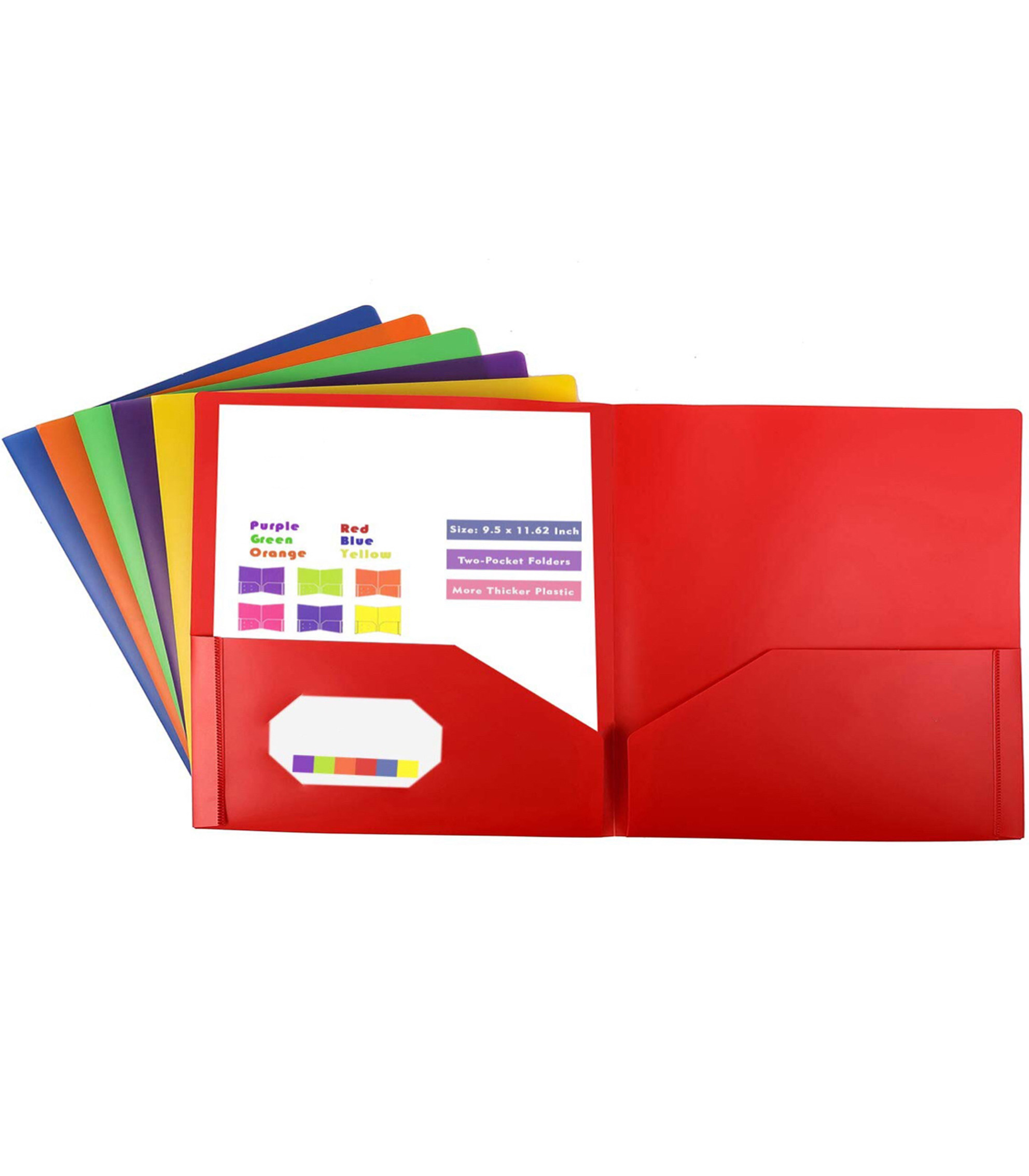 A4 Plastic Document Wallets Folder Files Assorted Colors Home Office School