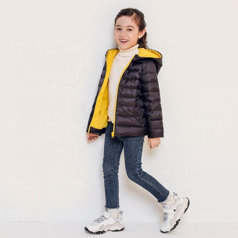 Novas chegadas meninas china jaqueta curta para baixo-cheia casaco desgaste do inverno para crianças