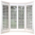 Custom design basswood window shutter