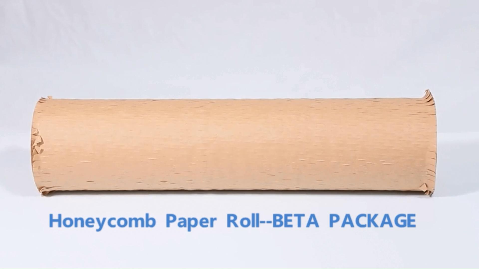 ราคาโรงงานขายส่งขนาดที่กำหนดเองโลโก้รังผึ้งห่อกระดาษม้วน