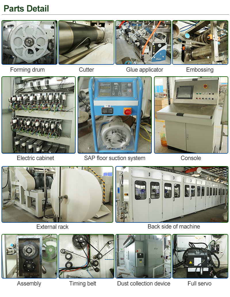 Full servo T O shape pull up baby diaper making machine with good price