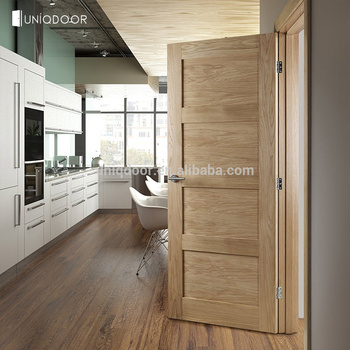Interior 4-panel solid oak wood shaker door