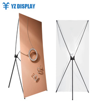 Banner Advertising Custom Metal X Display Stand