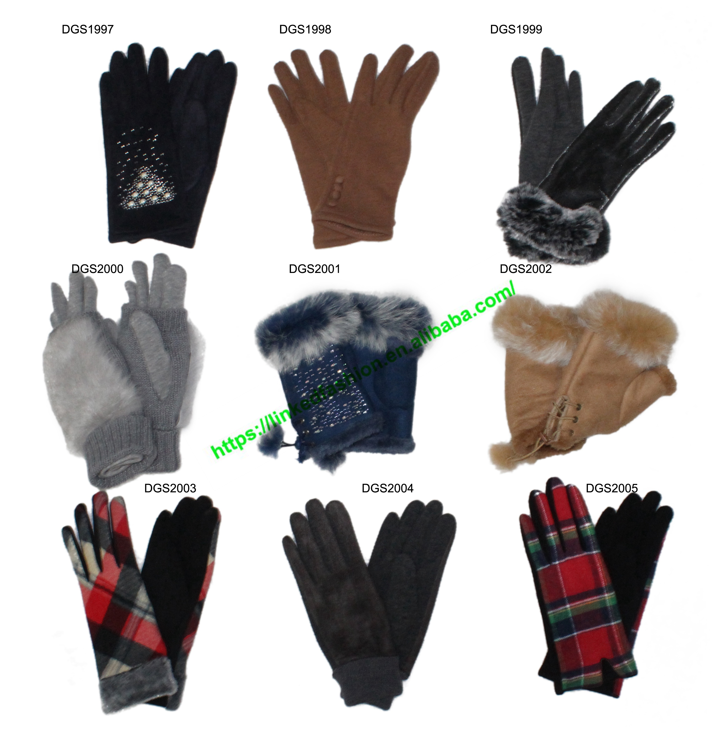 Plaid Wool men/'s Gloves Real Leather Wrist Long Gift Gray Grid  gloves