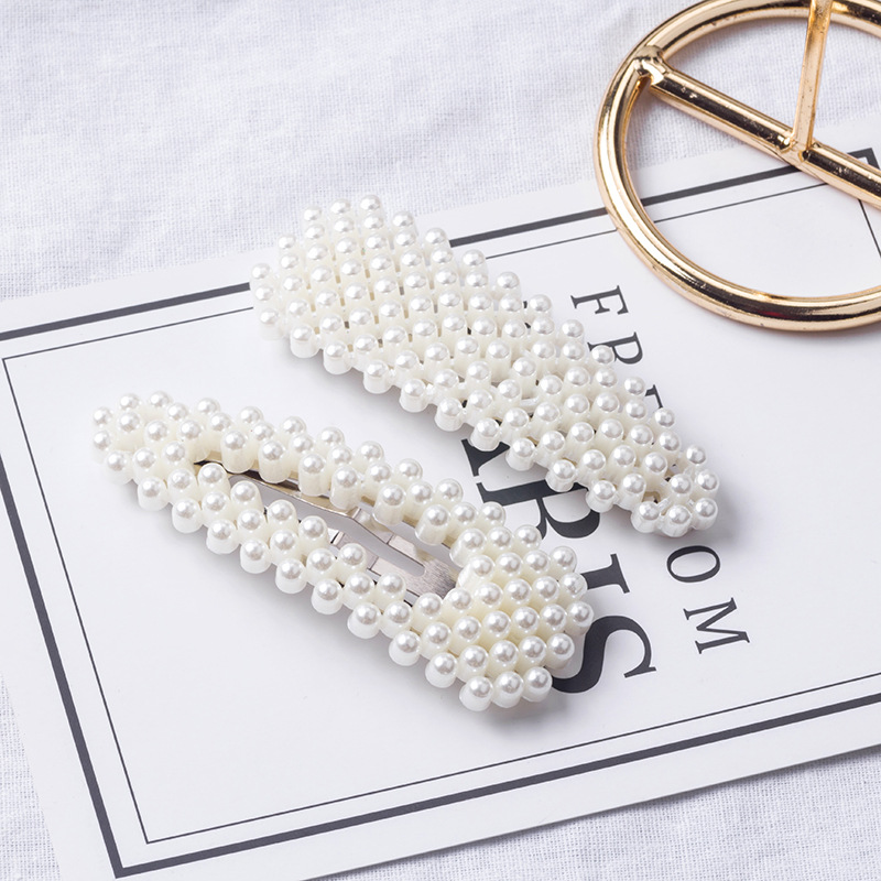 2019 Ins Popular Metal Pearl Snap Hair Clip Hair Pins Barrette Lovely Clips Hair Accessories For Bride/Women/Girls Jewelry