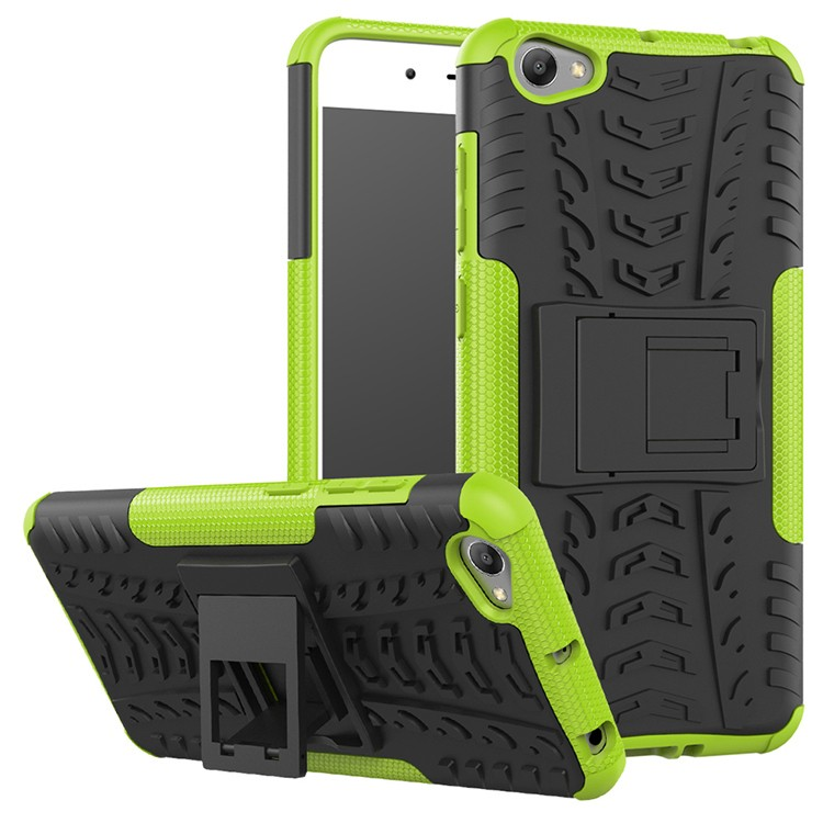 <strong>Hot</strong> in india tpu case for vivo y55 colorful tpu pc phone case with kickstand