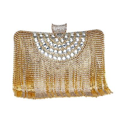 GLOIG Модные женские вечерние сумки с кисточками, украшенные бриллиантами и бусинами, клатч, свадебные сумки, вечерние сумки на плечо, Женский ...(Китай)