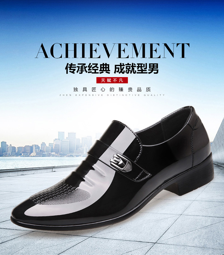 Customize Wholesale Business Shoes In Men's Fashion Loafer Formal Dress+Shoes Casual PU Leather