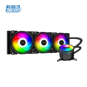 PCCOOLER GI-CX360  Cpu Liquid Cooler with PC Water Cooling LED Aluminum three Fan For Intel and AMD