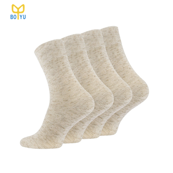 BY-N1348 100% hemp socks organic hemp socks linen socks