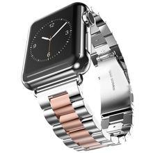 Для Apple Watch Band 44 мм 40 мм 38 мм 42 мм модный металлический спортивный браслет из нержавеющей стали ремешок для iWatch Series5 4 3 2 1 ремешок для часов(Китай)