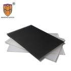 2.1mm 5mm clear frosted acrylic sheet black matte