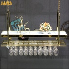 Custom metal stainless steel led wine glass rack, wal wine glass rack hanging for bar
