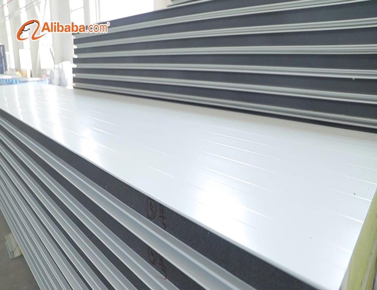 100mm isolierung pu sandwich wall panel für lager gebäude