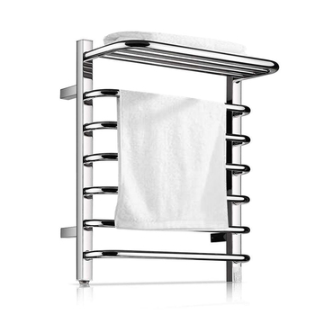 Towel Warmer 9 Bars Plug-in Stainless Steel Heated Towel Rack,Built-in Thermostat