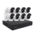 Home Security Camera System 8CH H.265 2MP HD Onvif Waterproof POE NVR Kit 1080P P2P Video Surveillance Outdoor CCTV System