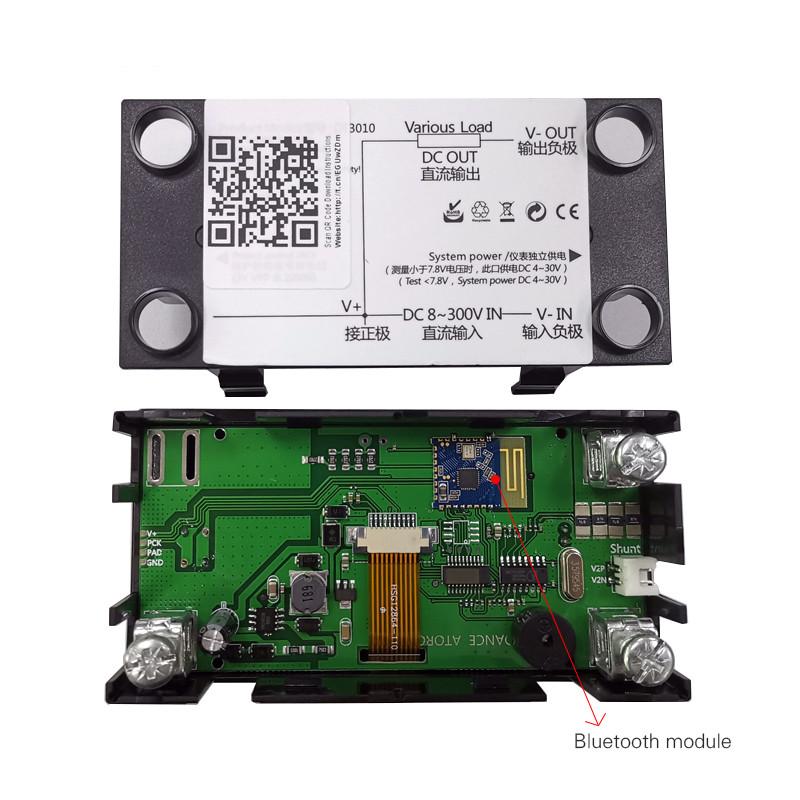DC digital voltmeter 300V/100A ammeter voltage Mobile APP meter car battery capacity volt current detector power supply tester