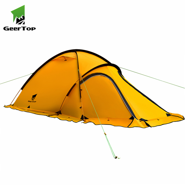 Geertop Two man 2 person four season double layer hiking light weight back packing alpine tent