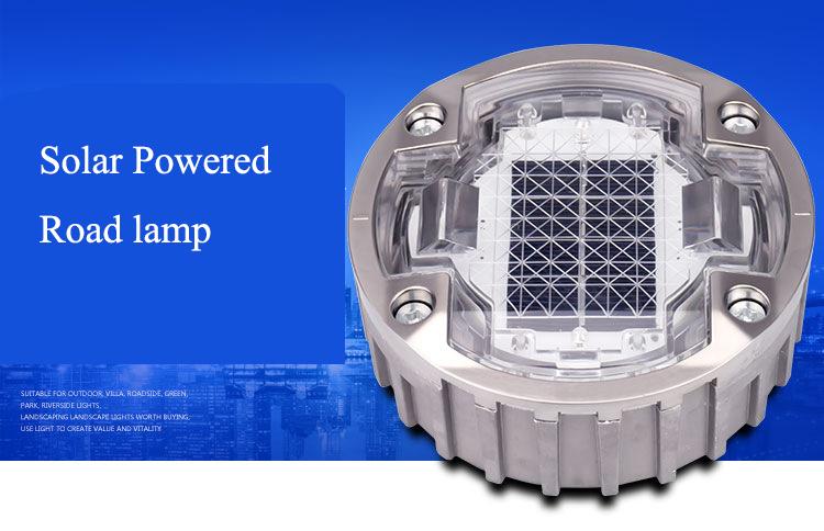 Trafik güvenliği LED yanıp sönen ışık alüminyum Amber güneş yol damızlık