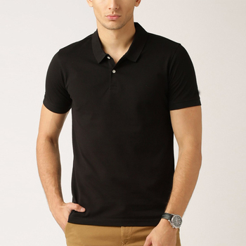 Original Mens Black 100% Classic Polo T-shirt