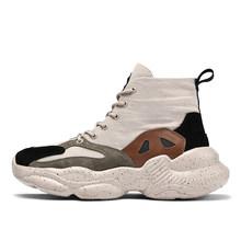 2020 модная повседневная обувь для мужчин с толстой подошвой, высокие баскетбольные кроссовки, парусиновые кроссовки, дышащие удобные Zapatillas ...(Китай)