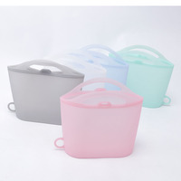 Food Grade Freezing Reusable Food Vacuum Bags Silicone Zipper Bag